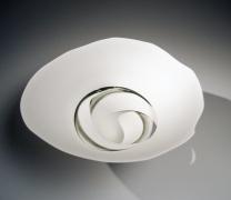 Fukumoto Fuku (b. 1973), Sectioned, high-footed bowl with adhering greenish-gray glaze