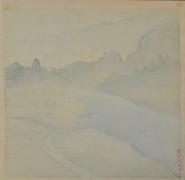 KAWASE HASUI (1883-1957), Rain at Okutama
