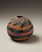 Small neriage vase, 1975, Japanese contemporary, modern, ceramics, sculpture, Living National Treasure