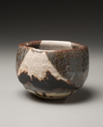Wakao Toshisada, teabowl, ca. 1998, Mt. Fuji, the Moon