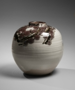 Iron and copper-glazed, plum blossom patterned, large vessel, ca. 1983