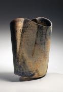 Sekki Kodo #12 Multi-fired curved stoneware vessel, 2012, Japanese contemporary ceramics, modern, sculpture