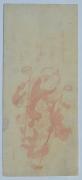 KITAGAWA UTAMARO (c. 1753- 1806), Extremely rare impression of boy on stilts in aka-e (all red) print