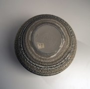 Matsui Kōsei (1927-2003), Brush-rubbed,neriage(marbleized) globular vessel