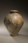 Tsujimura Kai, Japanese stoneware with natural ash glaze, Japanese vase, 2008