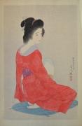 TORII KOTONDO (1900-1976), Nagajuban; (Long Undergarment)