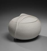Sutō Satoshi (b. 1976), Carved water jar with impressed patterning