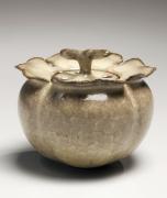 Celadon incense burner shaped like persimmon, 2013