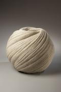 Sakiyama Takayuki, Large, twisting vessel with diagonally-incised cascading folds, 2009, Stoneware with sand glaze, Japanese contemporary ceramics, Japanese sculpture