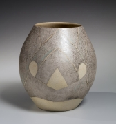 White-glazed oval tsubo (vessel), ca. 1979