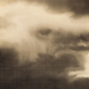 TAKEUCHI SEIHŌ (1864-1942), Subject: Quarter moon rising on a cloudy night