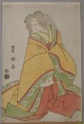 Utagawa Toyokuni I (1769-1825), Sawamura Sokurō III (1753-1801) as court woman with white wig, possibly Konomura Ōinosuke