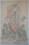 Utagawa Toyokuni I (1769-1825), A Fashionable Female Version of the Shikisanban Dance