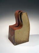 Kiyomizu Rokubey VII (1922-2006), Chair-inspired vase with Irabo-glazed abstract patterning