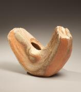 V-shapedIgavessel with natural ash-glaze, 2009