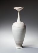 Ito Hidehito, neriage amphora-shpaed bottle, marbleized clay, 2015, marbleized porcelain, Japanese ceramics, Japanese pottery, Japanese bottle, Japanese neriage, Japanese contemporary ceramics, Japanese porcelain