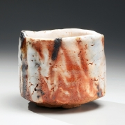 Hori Ichiro, shino-glazed teabowl, 2011, glazed stoneware, Japanese teabowl, Japanese teaware, Japanese ceramics, Japanese pottery, shino, Japanese contemporary ceramics