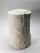 Sutō Satoshi (b. 1976), Ceramic covered box with impressed patterning