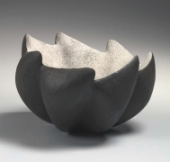 Lobed bowl composed of seven joined hollowed parts with zig-zag rim, 2016