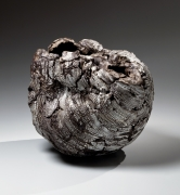 Futamura Yoshimi, Black Hole, 2015, stoneware and porcelain slip, Japanese ceramics, Japanese pottery, Japanese porcelain, Japanese sculpture, Japanese female artist, female ceramist