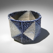 Ajiki Hiro (b. 1948), Teabowl with triangular patterning