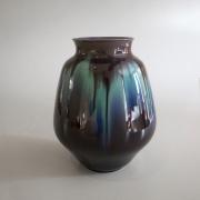 Bell-shaped vase with raised flaring mouth andKutani'dripping' glaze decoration, ca. 1995