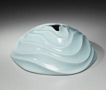 Ono Kotaro, Silent Swell, 2015, Glazed porcelain, Japanese contemporary ceramics