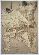 Katsushika Shun'ei (1762-1819), Two sumō wrestlers