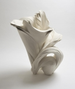 Fujikasa Satoko, Blossoming, 2014, Stoneware with white slip-glaze, Japanese ceramics, Japanese contemporary ceramics, Japanese sculpture, Japanese pottery