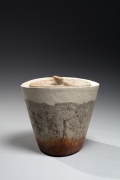 Kakurezaki Ryūichi (b. 1950), Conical Bizen water jar with a cover