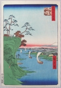 Subject: View of Kônodai and the Tone River from the series One Hundred Famous Places in Edo
