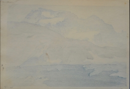 OSHIDA HIROSHI (1867-1950), Buraitohorun yama (Breithorn)