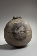 Large rounded wood-fired shigaraki vessel, ca. 2000