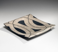 Platter with geometric patterning, ca. 1980