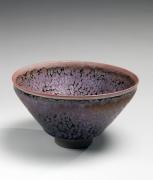 Kamada, Koji, Kamada Koji, teabowl, tenmoku, purple, oil-spot, stoneware, glaze, contemporary, ceramics, teaware, Japanese, 2013