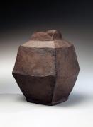 Mori Tōgaku (b. 1937), Black square vase