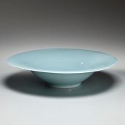 Yagi Akira, Japanese seihakji, Japanese bluish-white celadon porcelain, Japanese large bowl, Japanese glazed porcelain