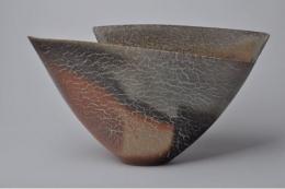 Kakurezaki Ryūichi (b. 1950), Bizen Wide-mouthed Vase
