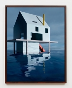 Blue House on Water #2, 2018, framed archival pigment print mounted to dibond
