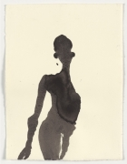 PROPRIOCEPTION IV, 2002, carbon and casein on paper