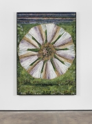 Arose, 2020 glass mosaic with patinated brass frame