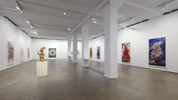 Installation view of Shahzia Sikander: Weeping Willows, Liquid Tongues at Sean Kelly, New York