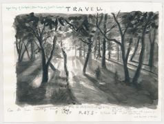 Travel (Rays of sun), 2013, washed ink and felt pen on paper
