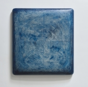 Navy Blue II 藏藍 -- 2, 2017, oil, lacquer, linen and wood