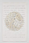 The Six Singing Spheres #2, 2016, ink and gold leaf on paper