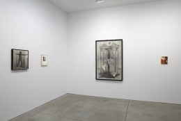 Installation view of memories of the future at Sean Kelly, New York
