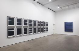Installation view ofIdris Khan: Blue Rhythmsat Sean Kelly, New York