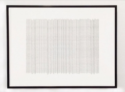Curtain 8, 2015, graphite on paper