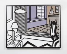 JOSE DÁVILA, Untitled (Interior with Bathroom Painting), 2020