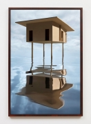 Tan House on Stilts, 2019, framed archival pigment print mounted to dibond